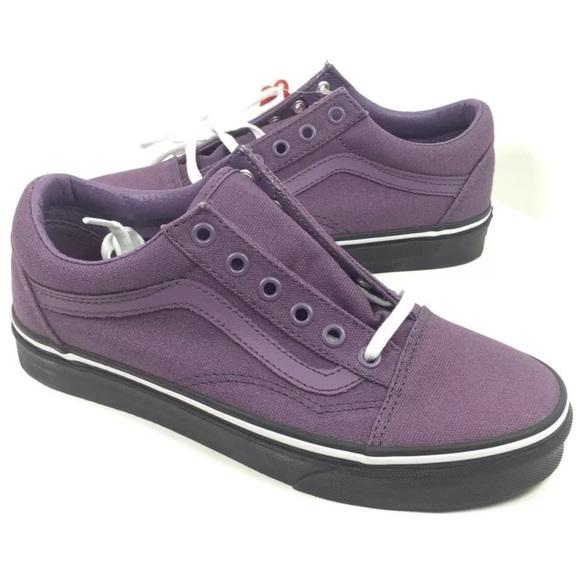 NEW Vans Old Skool Purple Black Shoes Sneakers 885a00ebc